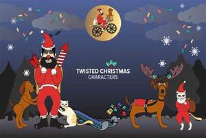 Twisted Christmas Characters - Vectors - YouWorkForThem