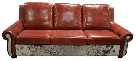 Cowhide Sectional - cowhide sofas couches cowhide sleepers free shipping
