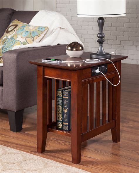 mission chair side table  charger atlantic furniture