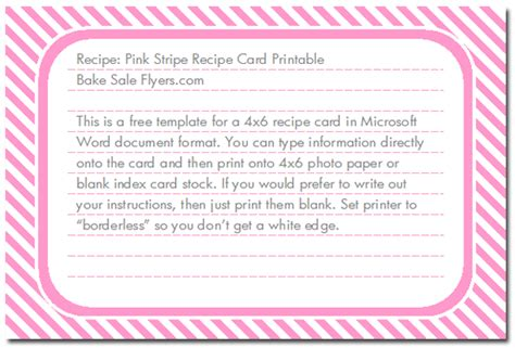 images   printable  recipe card templates