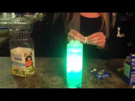 homemade lava l science fair project how to make a homeade lava l that lights up youtube