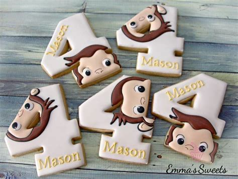curious george cookies children character cakes