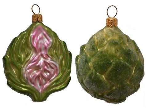 artichoke vegetable polish mouth blown glass christmas