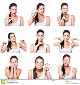 Composite Of Positive Emotions And Gestures With Girl ...