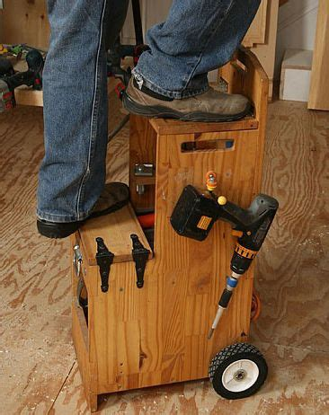 awesome organized rolling toolboxstep stool great
