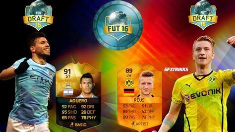 This is a mod for fifa 16 video game. REUS MOTM89 & KUN AGUERO 91 - FUTDRAFT || FIFA 16 - YouTube