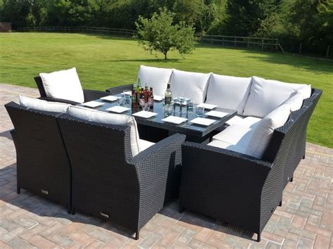 gorgeous corner patio dining set rattan outdoor corner