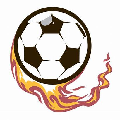 Soccer Ball Flame Logos Sports Graphicsprings Svg