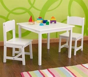 Table Et Chaises Enfant En Bois Blanc