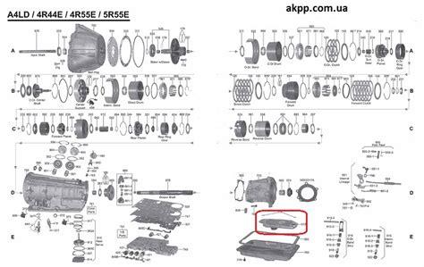 A4ld Transmission Overhaul Diagram by Seal A4ld 4r44e 4r55e 5r44e 5r55e 5r55n 5r55w