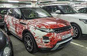 Range Rover Evoque gets dressed up in blood for Halloween