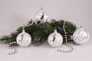 Weihnachtskugeln Weiß Silber : eis weiss silber christbaumkugeln christbaumschmuck und weihnachtskugeln aus glas ~ Sanjose-hotels-ca.com Haus und Dekorationen