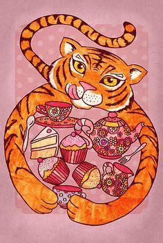 tiger    tea role play masks black