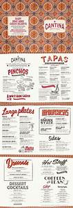 tapas menu template - cuban food menu graphic design illustration typography