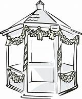 Gazebo Clipart Clip Pavilion Cliparts Library Yahoo Clipground 79kb 400px sketch template