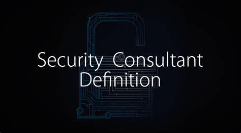 security consultant definition certification careers