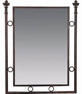 miroir de salle de bains fer forge With miroir salle de bain fer forgé
