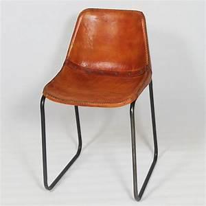 Chaise Industrielle Cuir : chaise industrielle cuir et m tal dublin chaise industrielle industriel et chaises ~ Teatrodelosmanantiales.com Idées de Décoration