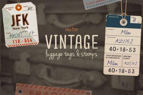 Creativemarket 15 Vintage Airline Luggage Tags All Vintage Luggage Tags And Sts Objects On Creative Market