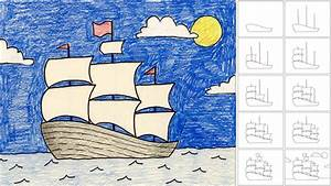 Art Projects For Kids  How To Draw A Sailing Ship