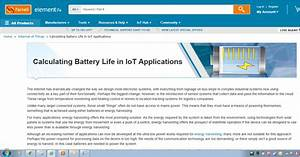 Batterielebensdauer Berechnen : iot power calculator helps iot developers by predicting battery life ~ Themetempest.com Abrechnung