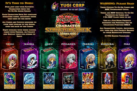 yami bakura deck list character structure decks complete poster update by