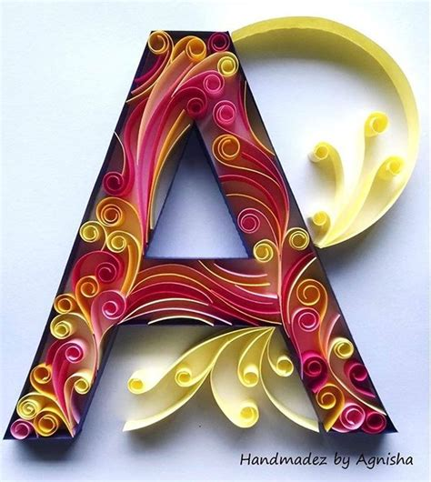 quilled monogram  behance quilling letters paper quilling designs quilling patterns