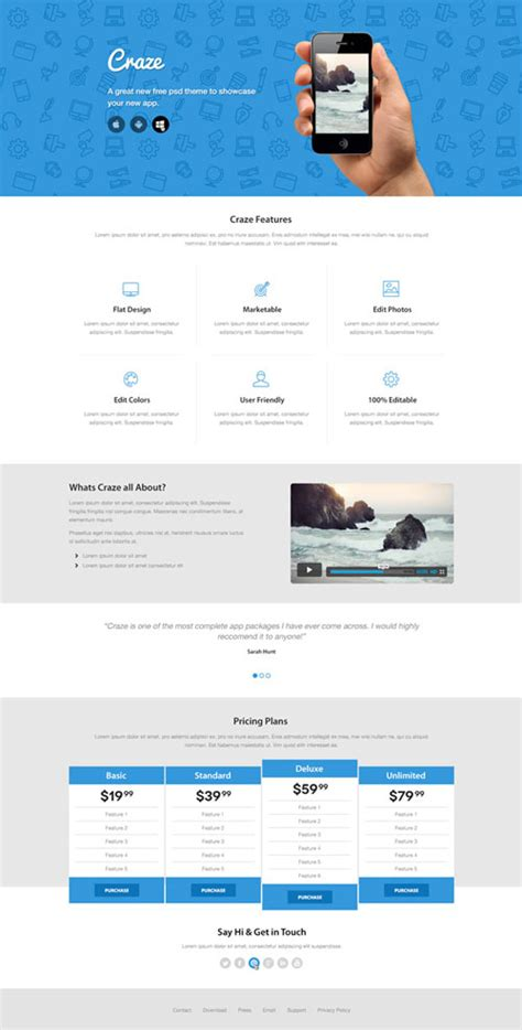 best landing page templates best of free web landing page templates designfreebies