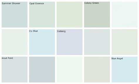 light blue paint colors designers favorites top row lef