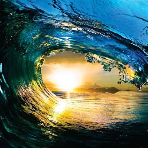 Water Wave Outdoor Scene Ocean Sun Sky Picture Art Mural Vinyl