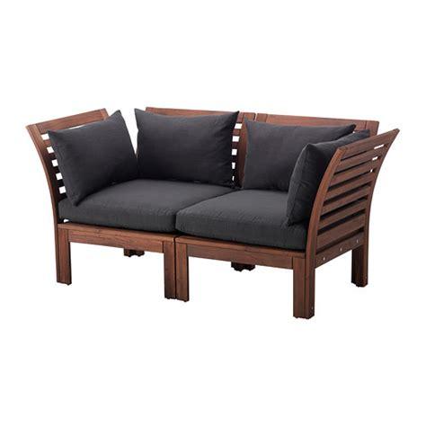 canapé exterieur ikea äpplarö hållö canapé 2 places extérieur teinté brun