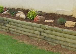 Rondin De Bois Pour Jardin : bordure rondin bois ~ Edinachiropracticcenter.com Idées de Décoration