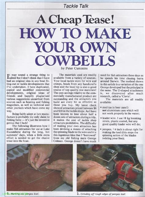 How To Make Your Own Application by How To Make Your Own Cowbells Lurelovers Australian