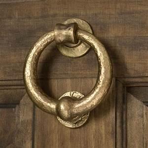 Solid, Bronze, Deluxe, Ring, Door, Knocker, -, Living, Bronze