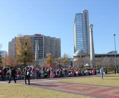 centennial olympic park parking garage tailgating in quot the gulch quot near the dome 2012
