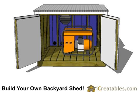 Small Generator Shed Plans by Shed Plan Creator Mikel Anggelo