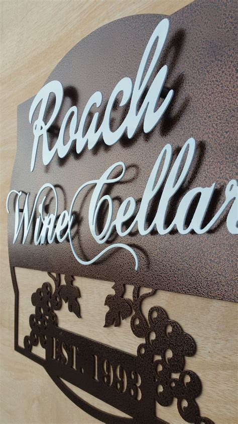 personalized wine cellar  established year metal sign