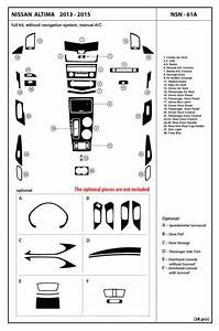 Dash Kit Trim Cover For Nissan Altima Without Navigation