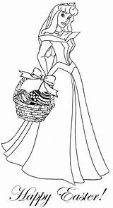 Princess Coloring Pages Easter Tangled Sleeping Beauty sketch template