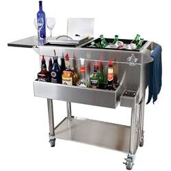 diy kitchen island cart glastender portable stainless steel cocktail station cart