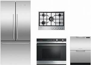 Fisher  U0026 Paykel Fprectwodw32 4 Piece Kitchen Appliances