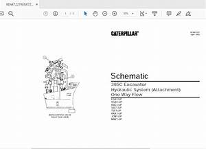 Cat 365c 385c Sbe1-up Excavator Hydraulic Electrical System