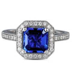 vintage princess cut engagement rings antique 1 carat princess cut sapphire and engagement ring in white gold jewelocean