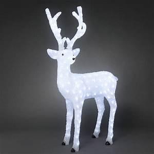 Weihnachtsbeleuchtung Aussen Figuren : 3d led acryl lichtfigur stehendes rentier m nnchen wei e led ~ Buech-reservation.com Haus und Dekorationen