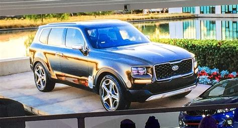 kia telluride concept  luxury suv  early