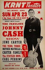 Johnny Cash Poster : original 1967 johnny cash june carter krnt theater boxing style conce ~ Buech-reservation.com Haus und Dekorationen