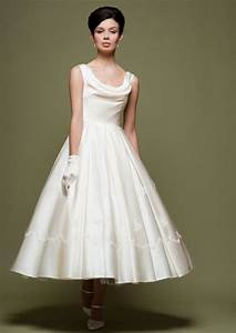 vintage retro 50s tea length wedding from jojo dress gowns With retro 50 s wedding dresses