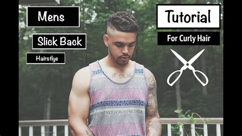 Mens Slick Back Hairstyle (for Short Wavy Mixed Curly Hair