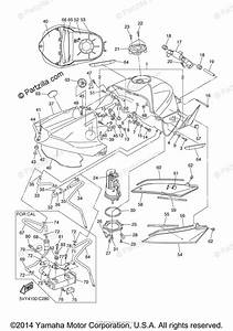 Yamaha Motorcycle 2004 Oem Parts Diagram For Fuel Tank
