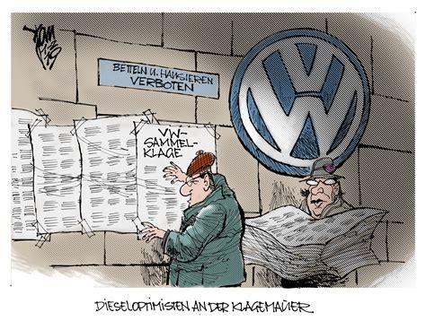 diesel skandal sammelklage vw abgas skandal archives janson karikatur
